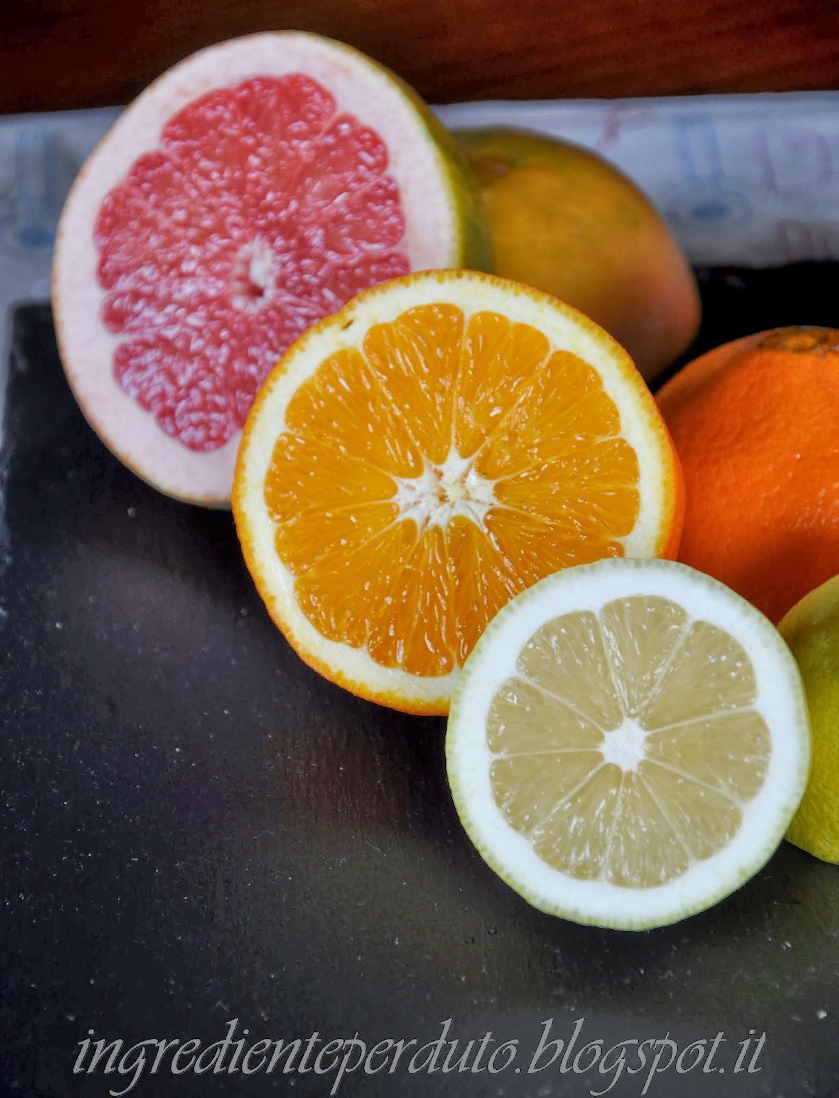 marmellata di agrumi: pompelmo rosa, arancia e limone.