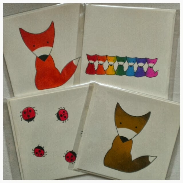 Miss Chaela Boo - fox and ladybird cards