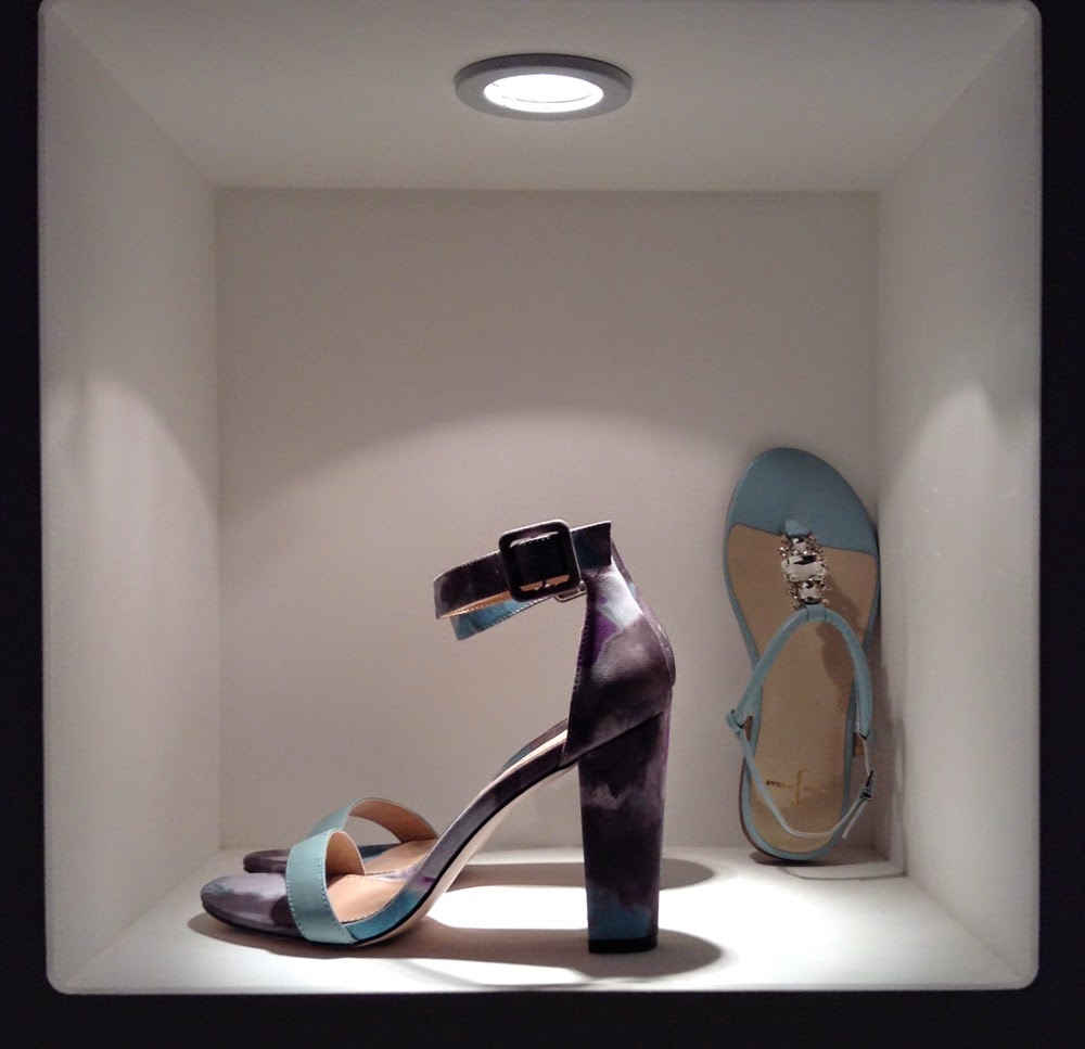 debenhams ss15 press day holographic shoes accessories