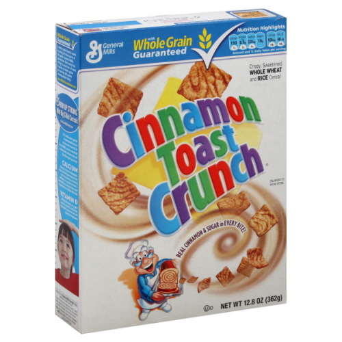 Obviously a box of Cinnamon Toast Crunch