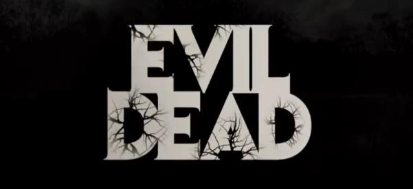 Evil Dead 2013 horror movie title directed by Fede Alvarez starring Jane Levy, Shiloh Fernandez, Lou Taylor Pucci, Jessica Lucas, Elizabeth Blackmore