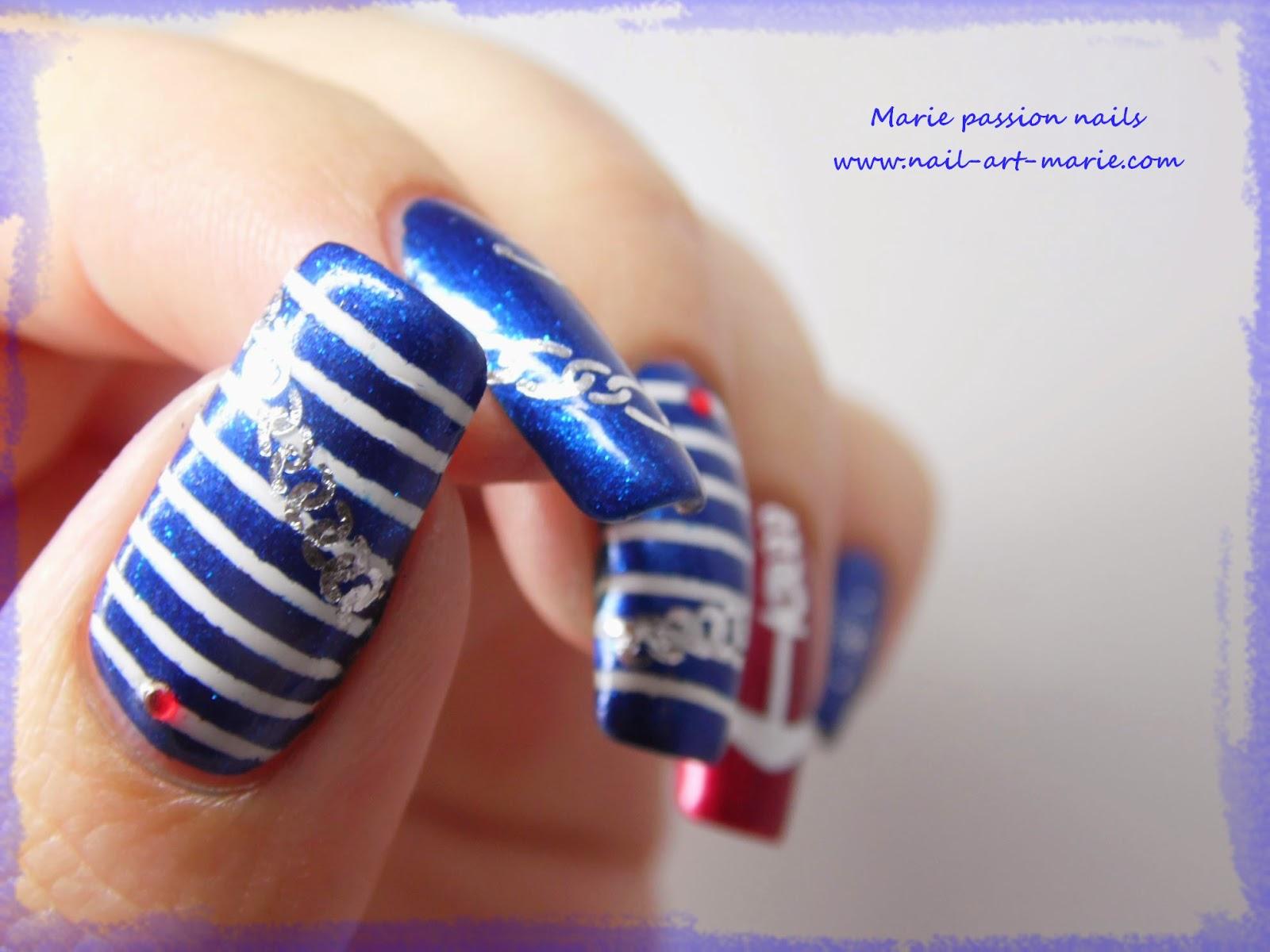 Nail art marin2