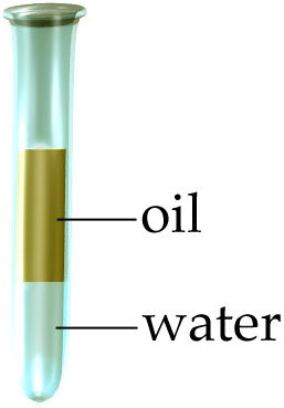 Oil and water flotation