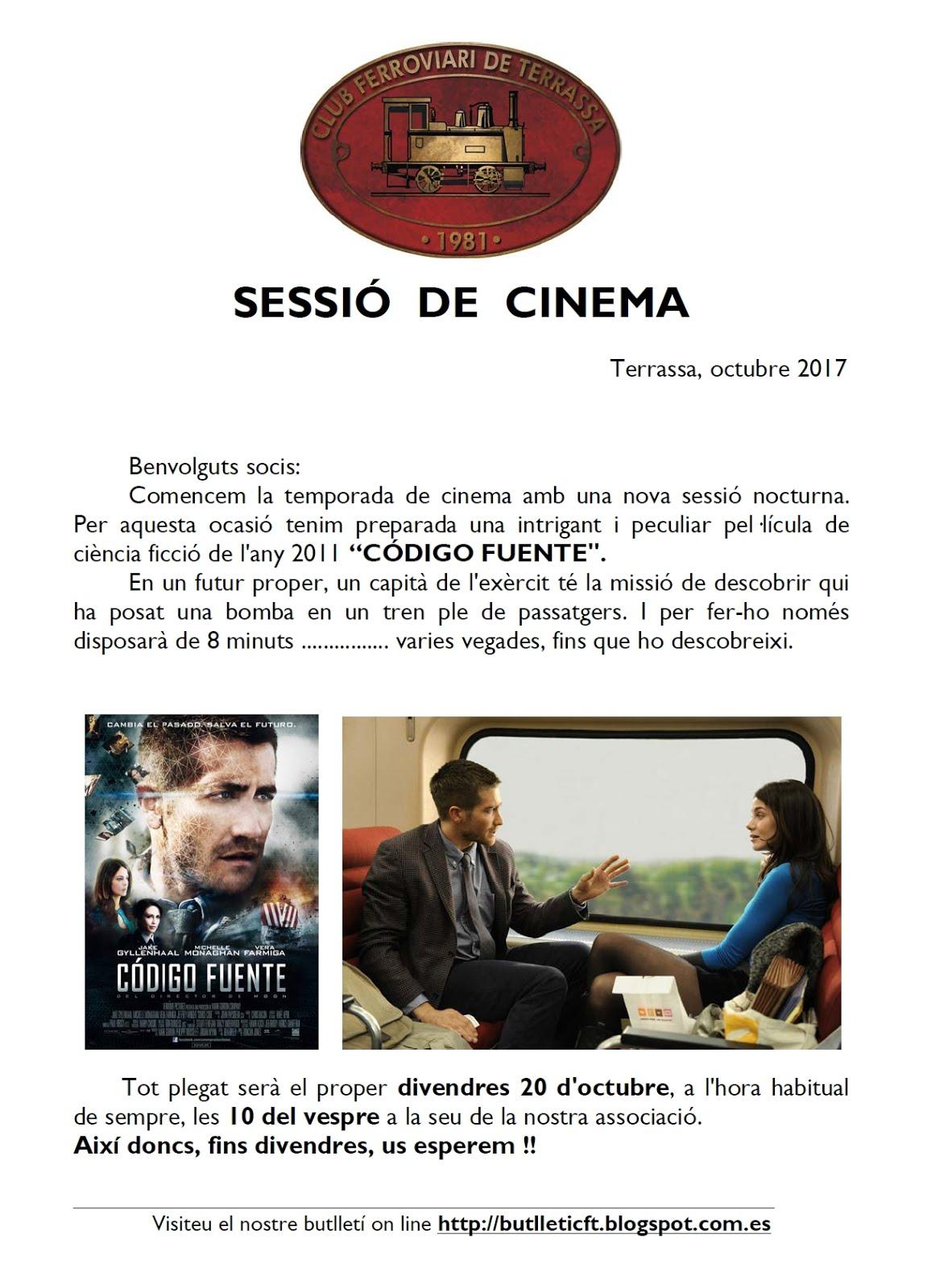 Sessió de Cinema Ferroviari