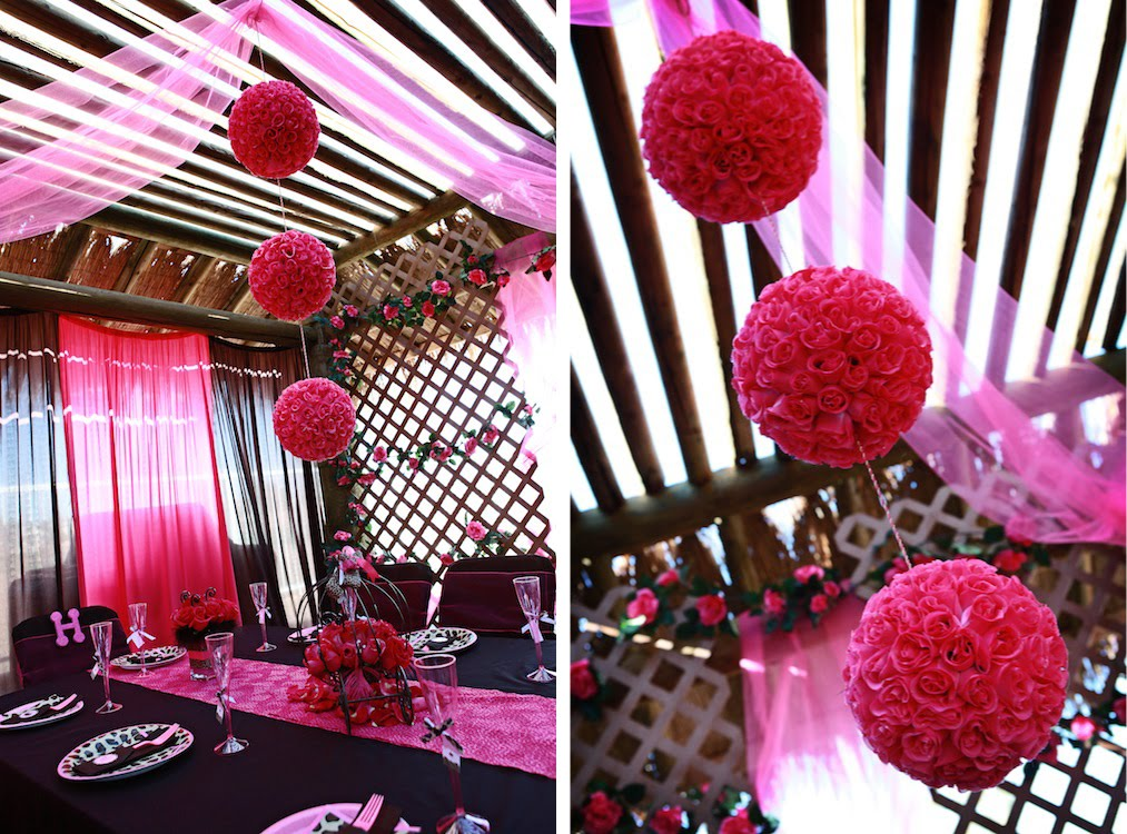 Fabulous features by anders ruff custom designs the purrfect leopard princess party - Cheetah print centerpieces ...