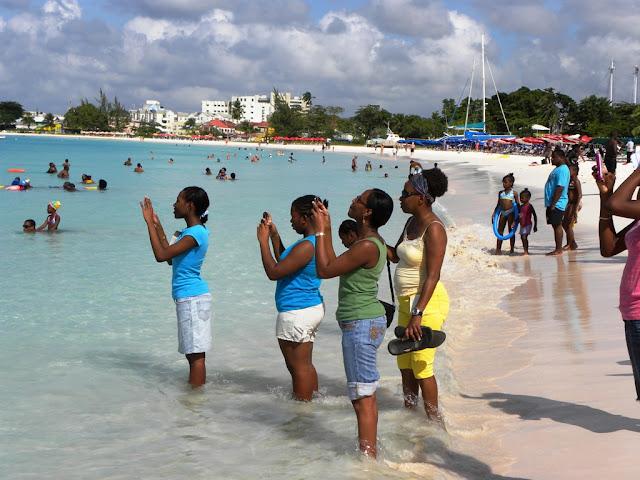 Carlise Bay Barbados Baptising