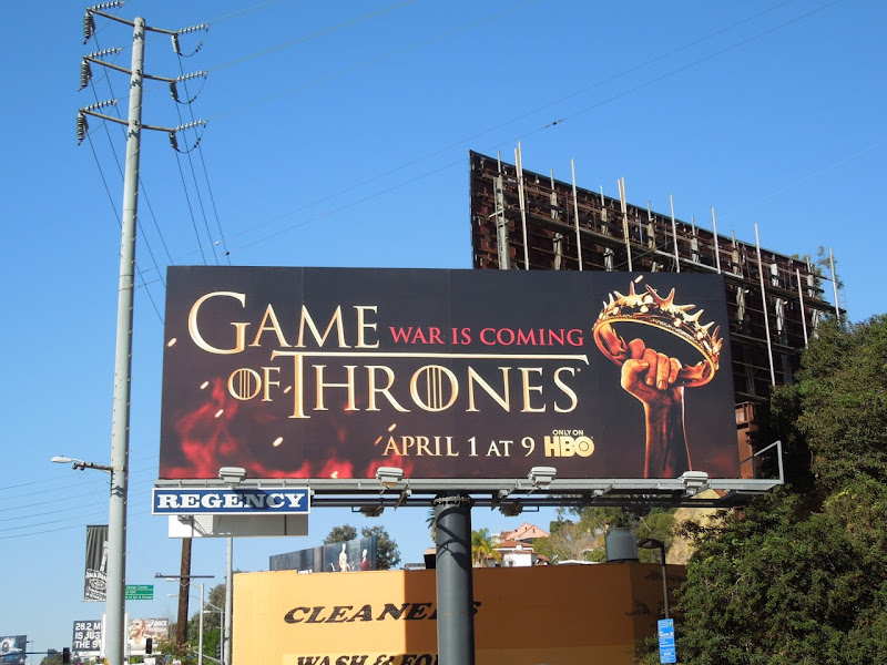 Game of Thrones season 2 billboard