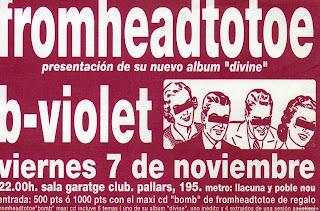 entrada de concierto de b-violet