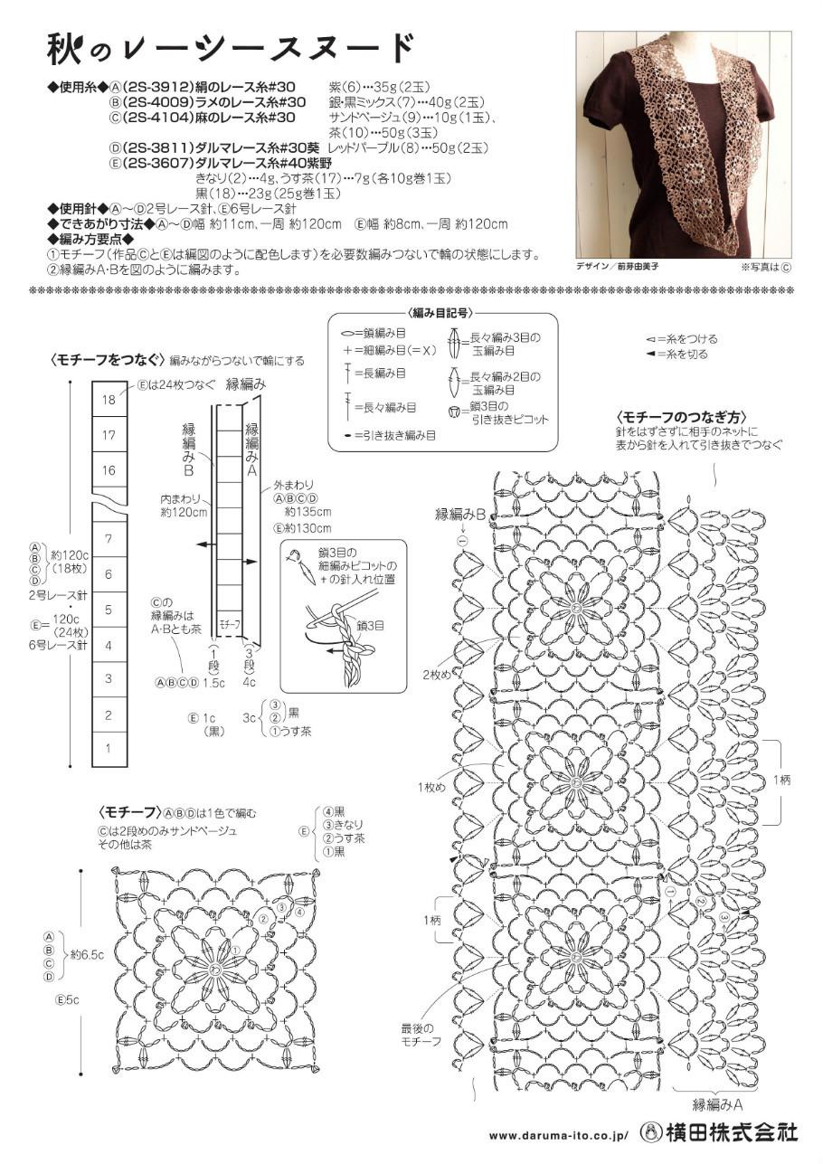 Схемы вязания шарфов спицами на 932