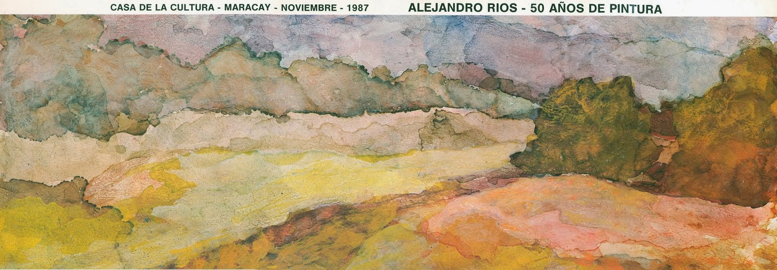 """Catálogo """"50 Años de Pintura"""" Maracay 1987"""
