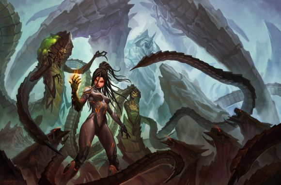 John Polidora ilustrações arte conceitual fantasia games blizzard Queen of blades