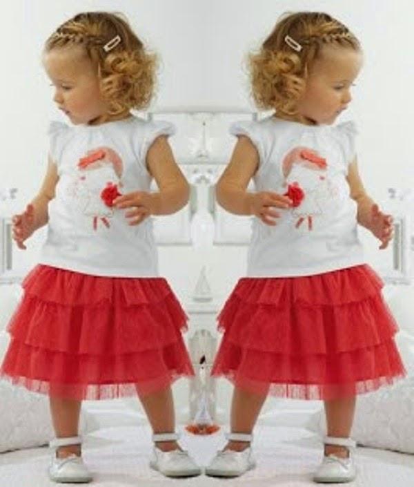 Foto anak memakai setelan tutu lucu banget