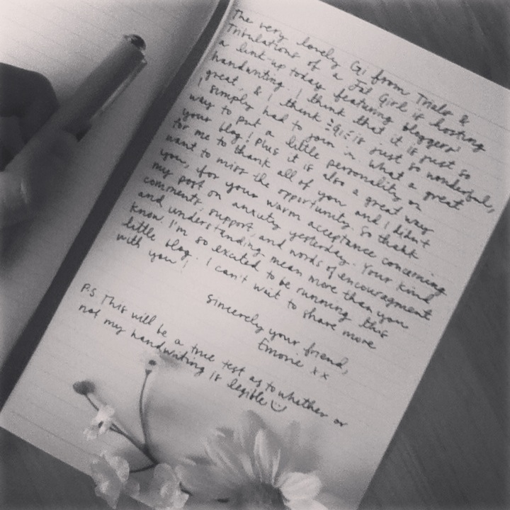 Oh Whimsical Me Handwritten Post Link Up A Love Letter