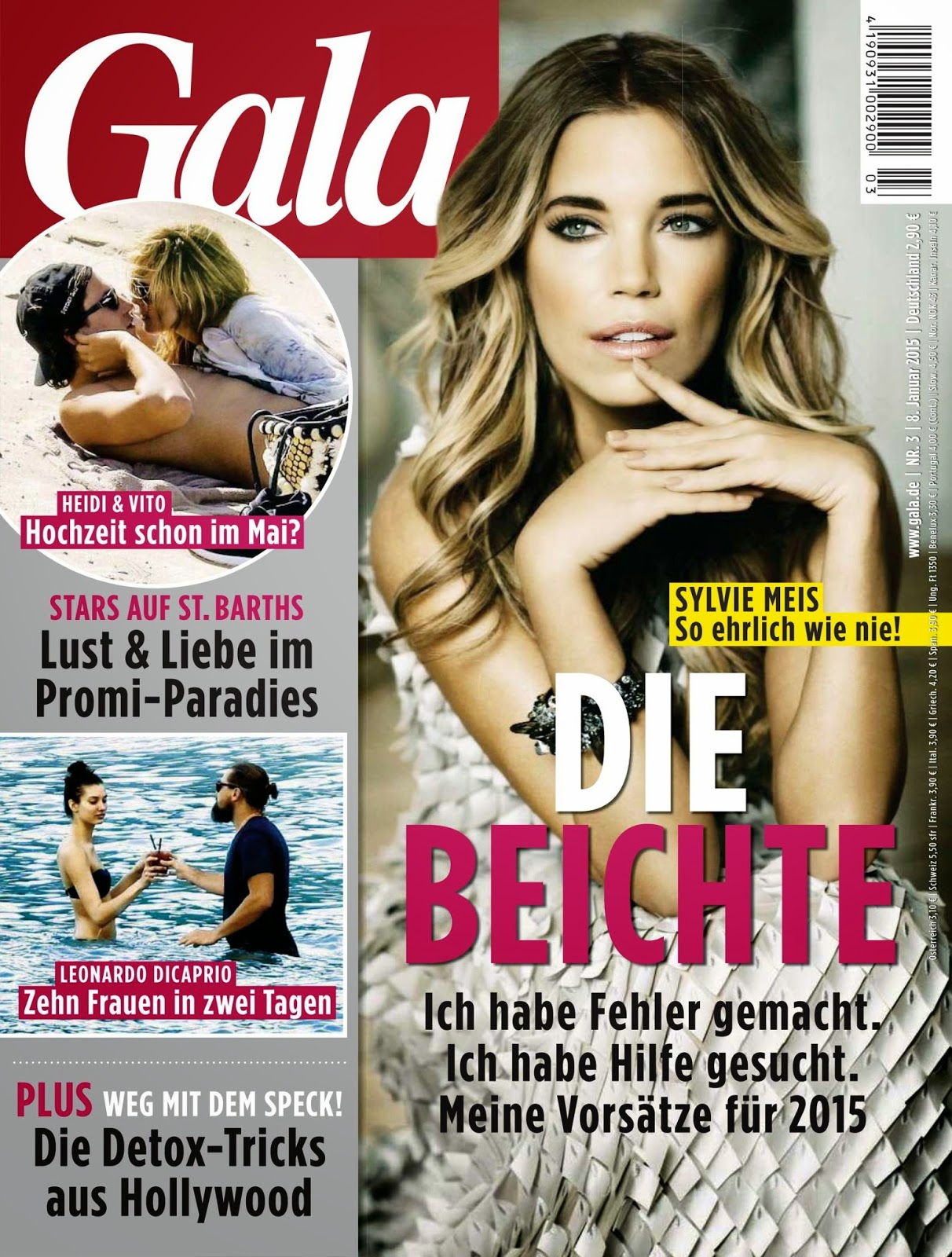 Sylvie Van Der Vaart - Gala Magazine, Germany, January 2015