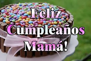 tarjeta de pastel de cumpleaños para mamá