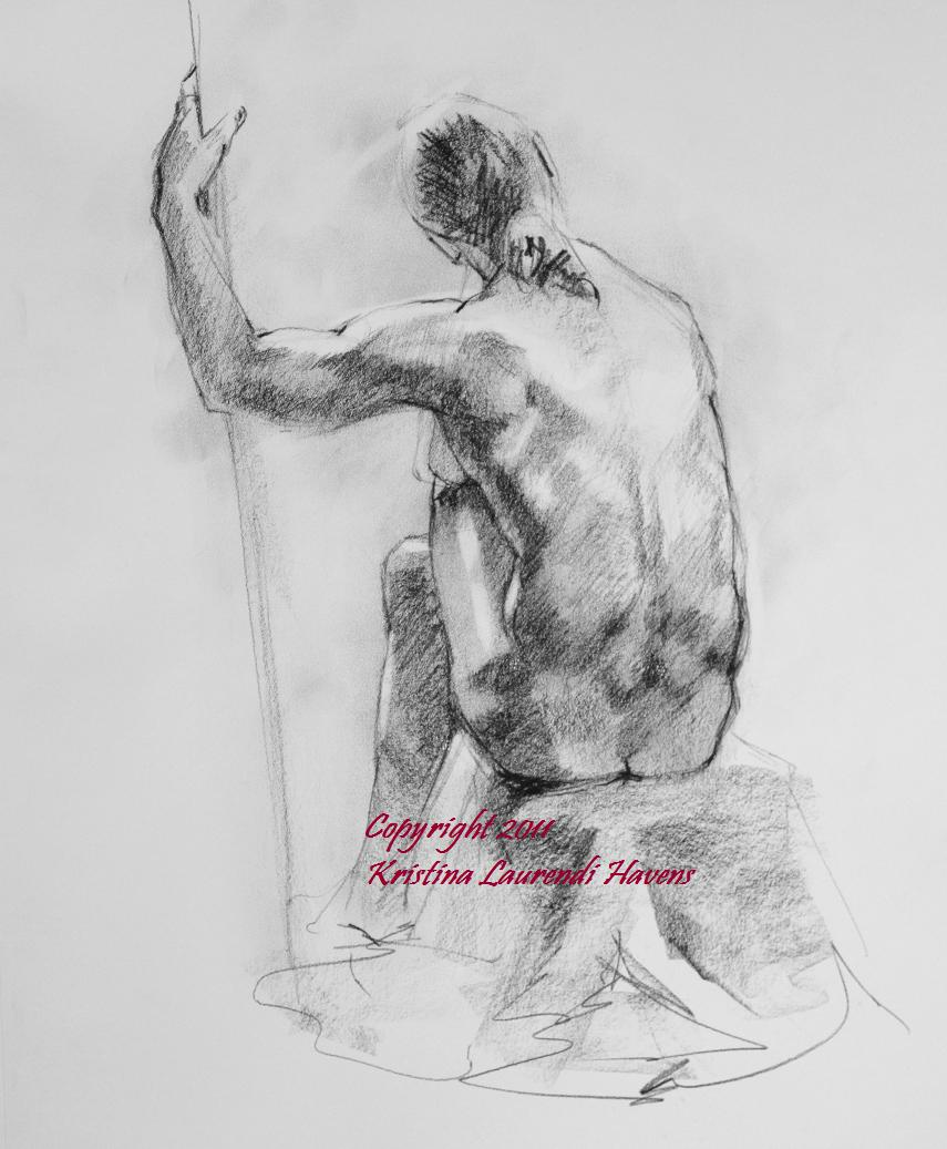 Charcoal Drawings of the Male Model. OK I'm going to post and run...just a ...