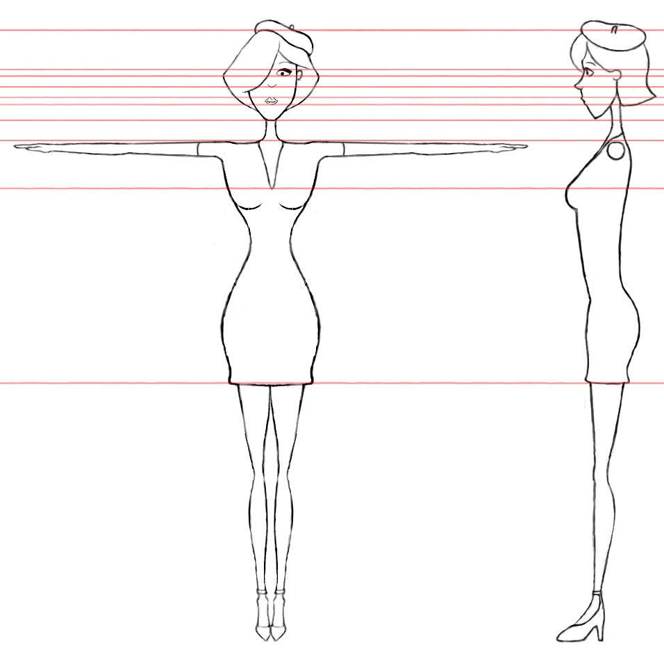 Character Design Side View : Danny rollings narrative female character re design