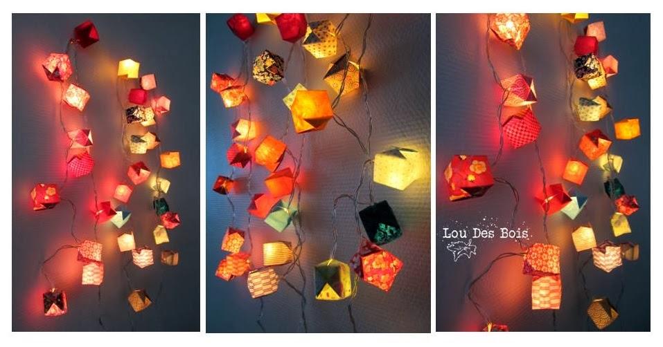 Lou Des Bois Origami Guirlandes lumineuses