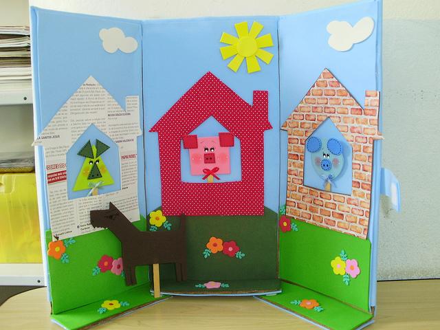 plano de aula para educação infantil - Os 03 porquinhos