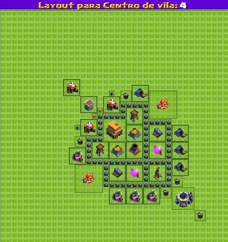 Dicas Clash Of Clans 'LayOuts': Cv Nivel 4
