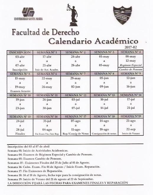 Calendario Académico 2017-02