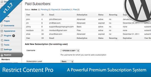 Restrict Content Pro - WordPress Plugin Free Download by ThemeForest.