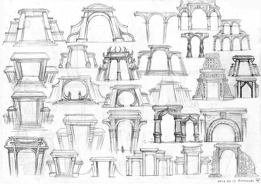 Gates sketches