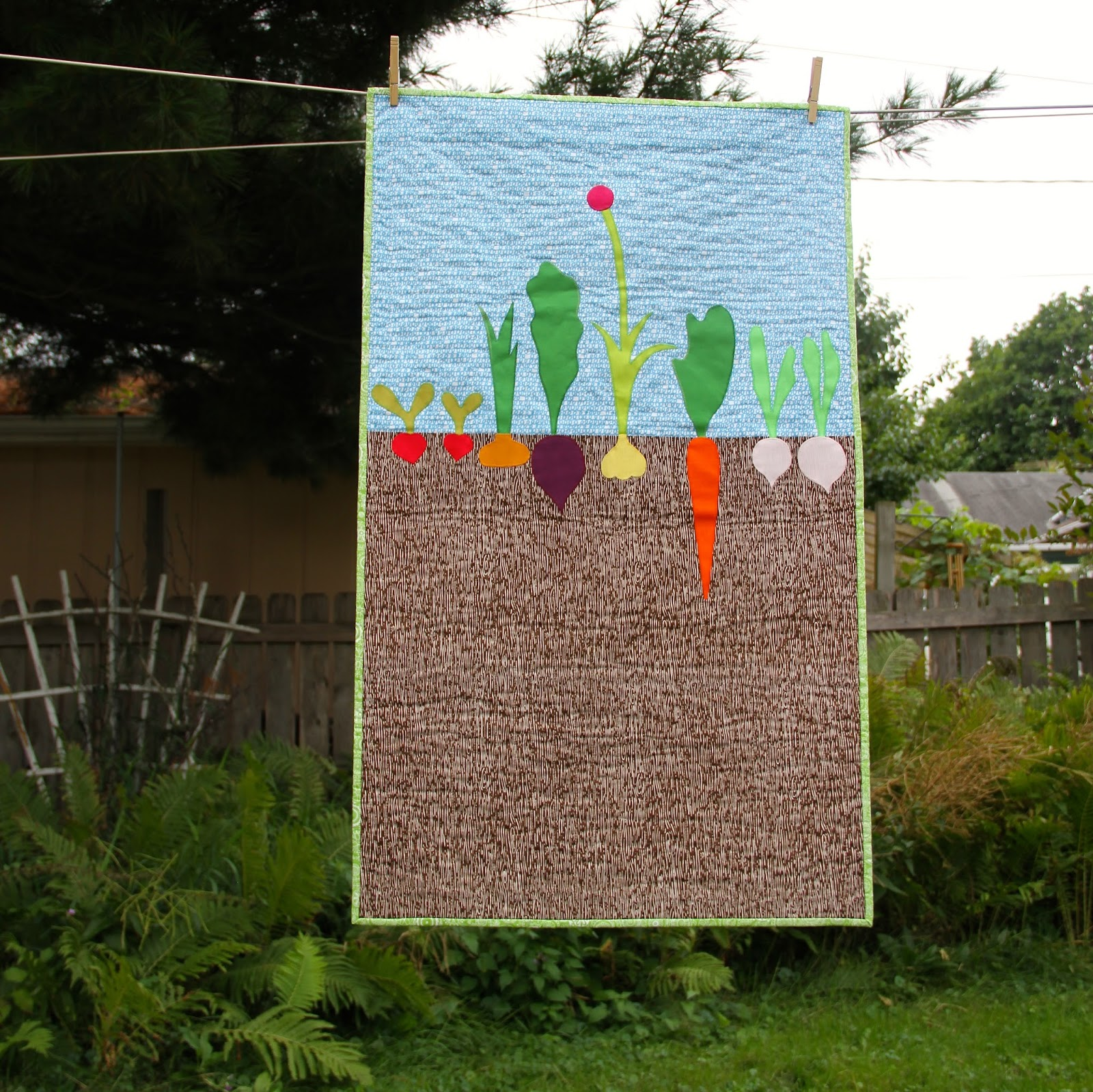 City house studio vegetable patch quilt for Vegetable patch in small garden