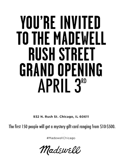 MADEWELL Chicago, opens on April 3rd at 932 N. Rush St.