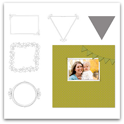 Stampin' Up! Freehand Frames Overlays Digital Download