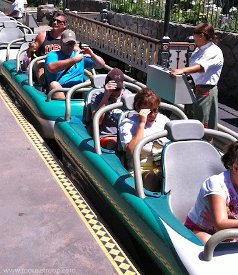 Disneyland Matterhorn Bobsleds loading station new seats