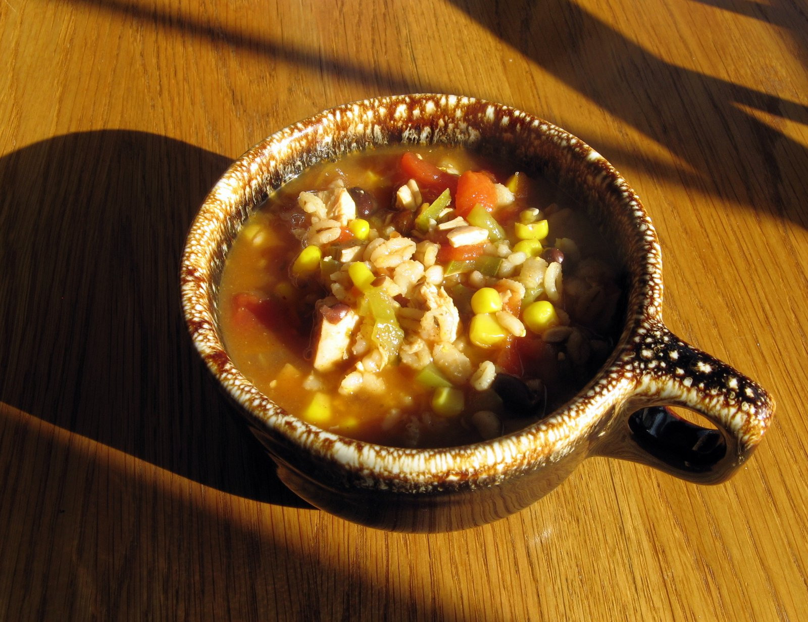 Of Cats and CardstockRecipeSouthwestern Chicken Barley Chili