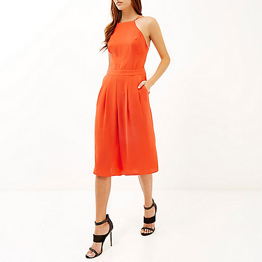 river island orange jumpsuit, river island culotte jumpsuit,
