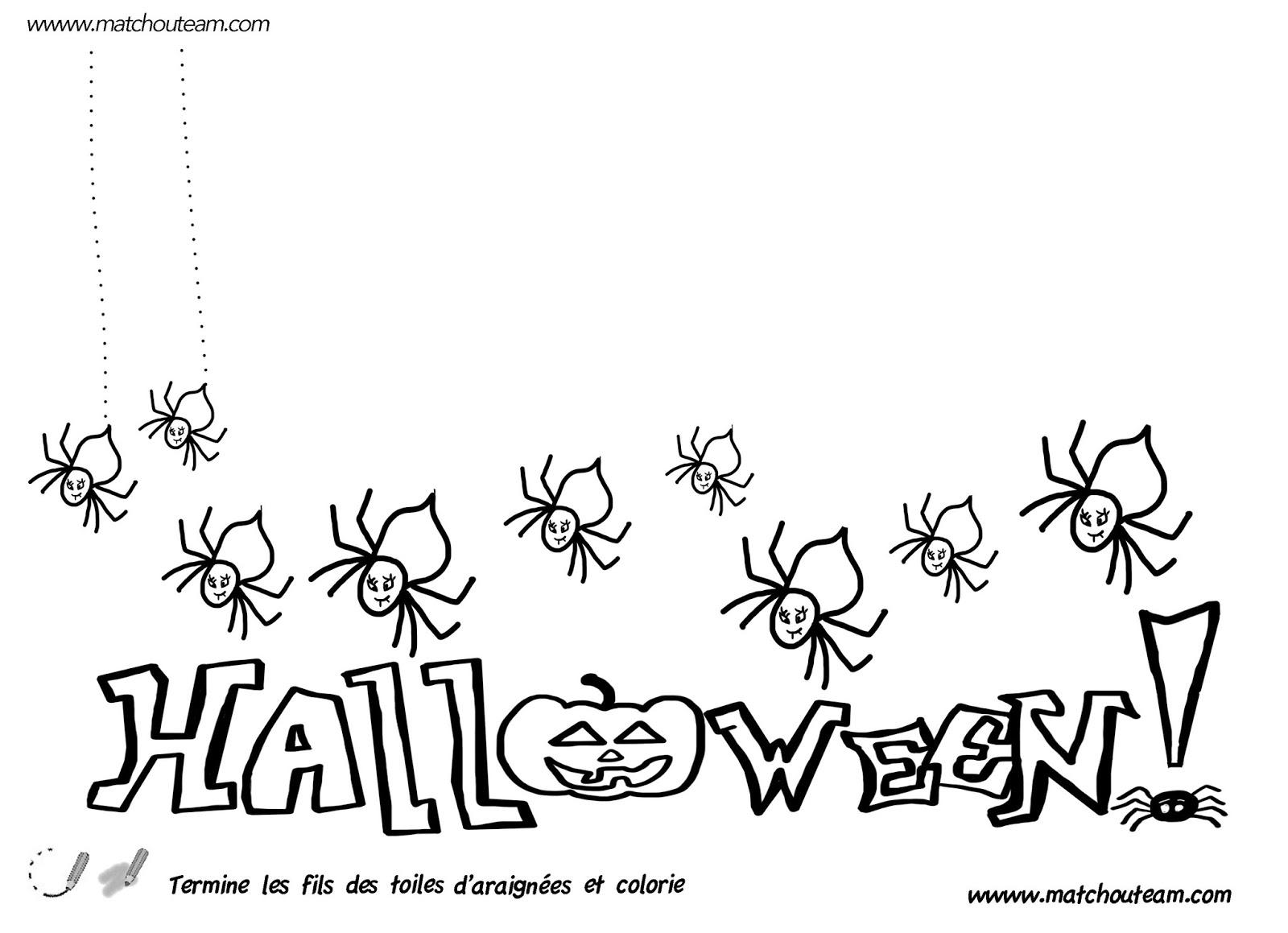 Gut bekannt Ma Tchou team: Halloween araignées sorcières et compagnie. GO43
