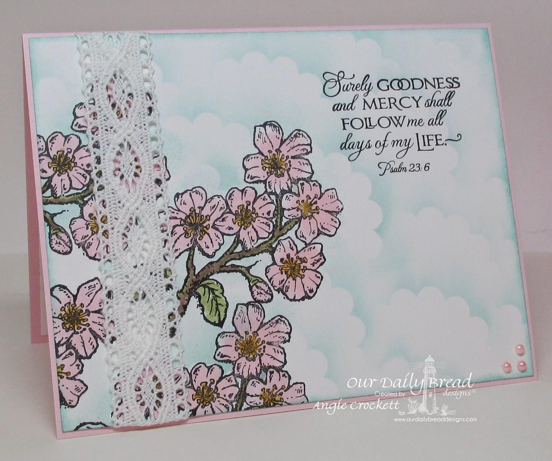 ODBD Cherry Blossom, Card Designer Angie Crockett