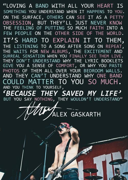 Alex gaskarth quotes never underestimate