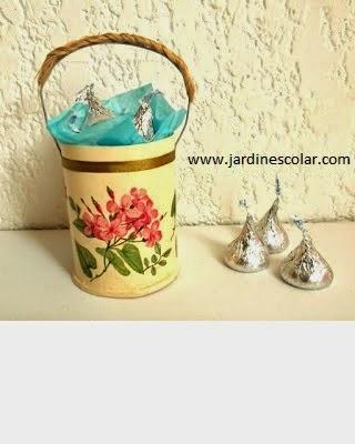 Manualidades canasta de chocolates y dulces
