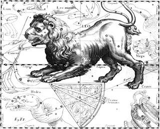 Звёздный атлас. Созвездие Льва.