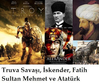 Truva Savaşı, Büyük İskender, Fatih Sultan Mehmet, Atatürk ve Anunnakiler