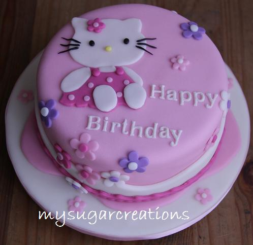 My Sugar Creations (001943746-M): Pink Hello Kitty Cake