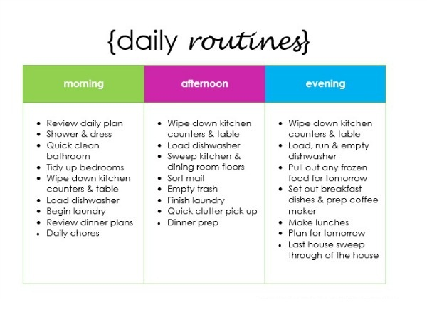 daily routine schedule maker