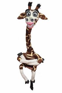 Professional giraffe puppet