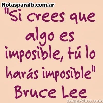 Frase de Bruce Lee