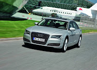 2013 Audi A8 L on road HD Wallpaper