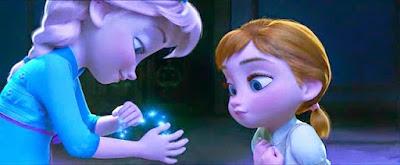 Gambar Kartun Anna dan Elsa Frozen Masih Kecil