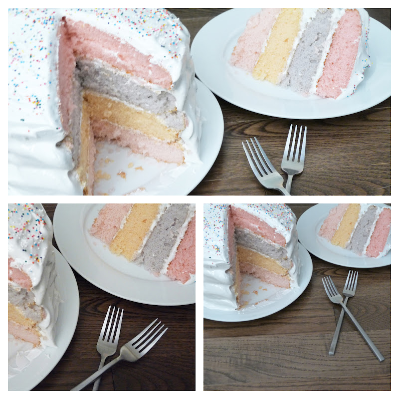 Edible Life in YYC: A Pastel Layer Cake & Orange Meringue Frosting