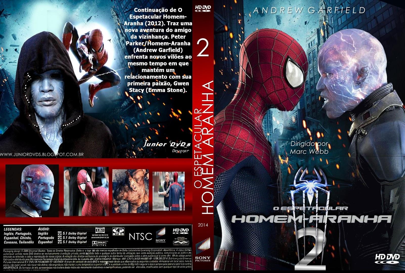 Download O Espetacular Homem-Aranha 2 R5 XviD Dual Áudio O ESPETACULAR HOMEN ARANHA 2 CAPA 2  JUNIOR DVDS DESIGNER