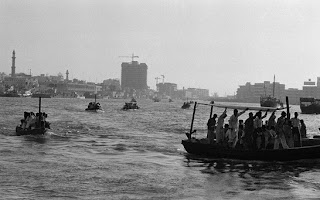 water bus old Dubai rare photo