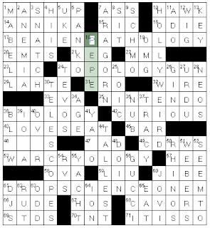 23 across a crossword blog for Columnist smith crossword clue