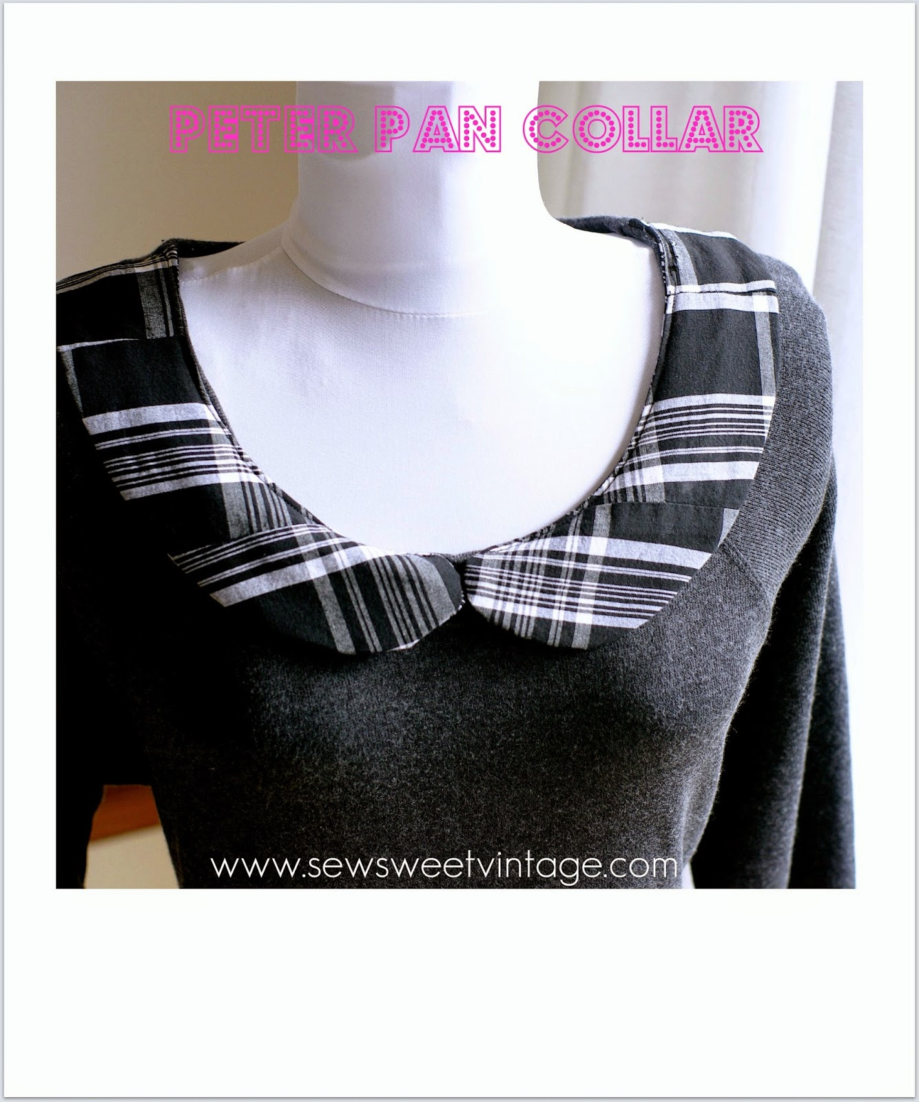 how to make a custom peter pan collar using recycled fabric